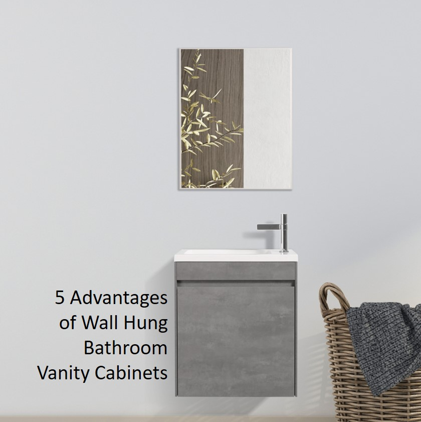 5 Advantages of Wall Hung Bathroom Vanity Cabinets