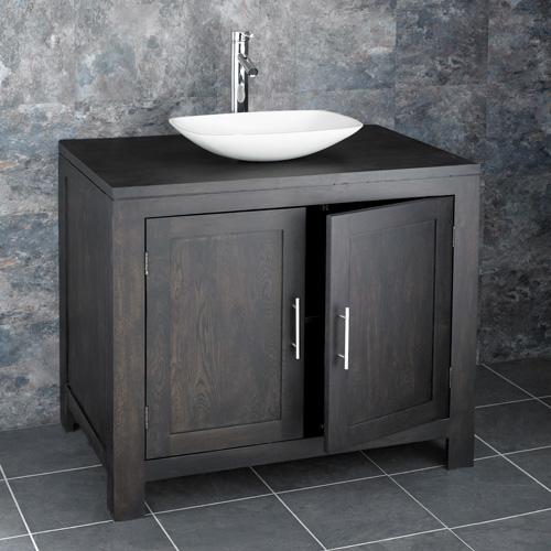 Dark Oak Vanity Cabinet
