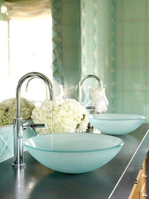 Frosted Glass Bathroom Basins