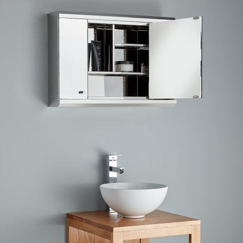 A mirror cabinet upgrades your bathroom