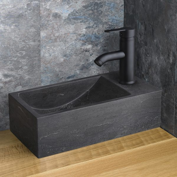 Black Countertop Natural Black Stone Basin