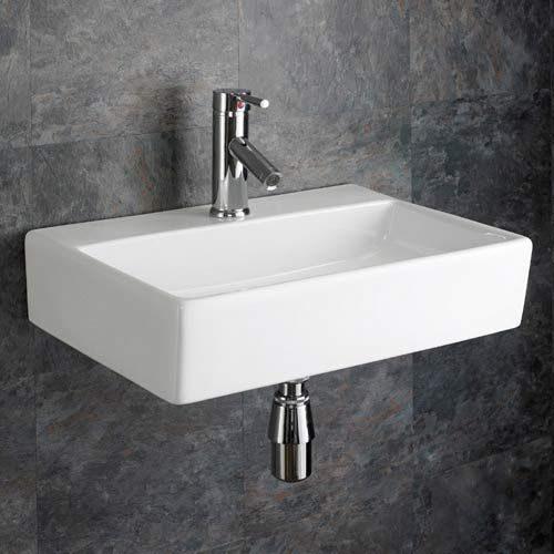 Large Wall Hung Bathroom Basin