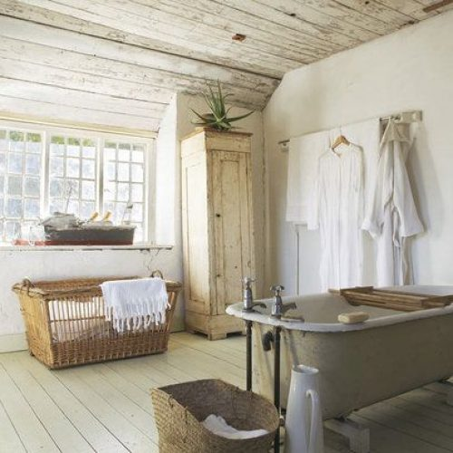 Hanging robes are a cheap way to add a design feature to your bathroom