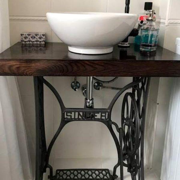 basin on sewing machine