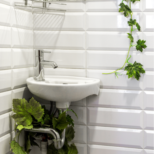 Small Corner Cloakroom Basin