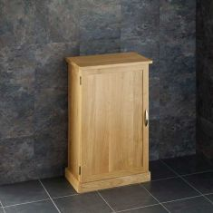Narrow Solid Oak Freestanding Bathroom Vanity Cabinet CUBE50