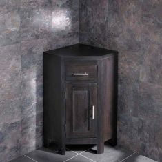 Dark Oak Wenge Vanity Compact Corner Storage Cabinet ALTASW