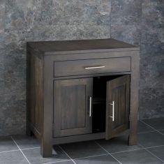 Wenge Dark Oak Large Bathroom Unit 750mm + Rectangle Sink Set ALTA75W