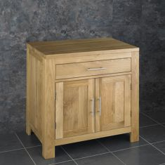 Large Two Door Oak Bathroom Vanity 750mm + Choice of Basin Set ALTA75