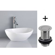 Oval Above Counter Freestanding Bathroom Sink | Free Delivery | BARCA