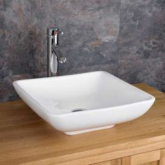 £39 VALUE RANGE Freestanding Square Above Counter Bathroom Sink | Free Delivery | CARRARA