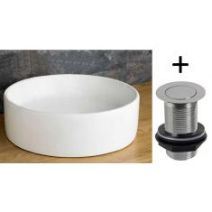 £39 VALUE RANGE Round Above Counter Top Washbasin Sink 410mm Diameter | Free Delivery | CASERTA