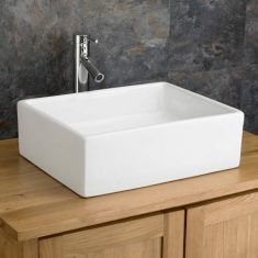 Large Above Counter Rectangular Bathroom Basin 470mm x 370mm CATANZARO