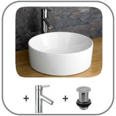 Caserta Basin Tap And Waste Set