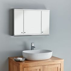 Three door Biscay bathroom storage cabinet
