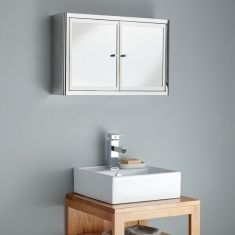 Nancy Twin Door 600mm Mirrored Bathroom Cabinet