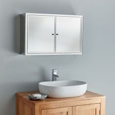 Extra Large 800mm Double Door Nancy Mirror Bathroom Cabinet