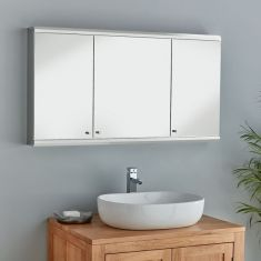 The extra wide Biscay bathroom cabinet with 3 mirrored doors