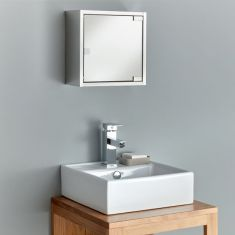 Small square lightweight bathroom mirror cabinet