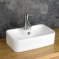 Rectangle White Counter Freestanding Bathroom Basin 490mm x 310mm FORLI