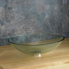 Stunning Oval Clear Glass Monza 470mm x 360mm Bathroom Basin