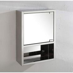 Narrow Wall Mirror Bathroom Storage Cabinet 530mm x 350mm SEVILLE