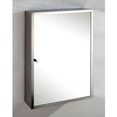Wall Single Door Mirror Bathroom Storage Cabinet 350mm x 500mm MONACO