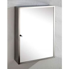 Wall Single Door Mirror Bathroom Storage Cabinet 350mm x 500mm MONACO