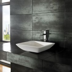 Agio Pure White Solid Surface Basin