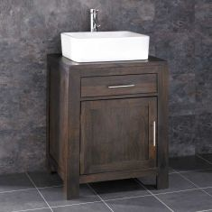 Alta Solid Oak Bathroom Cabinet With Basin