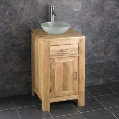 Alta Narrow Solid Oak Cabinet