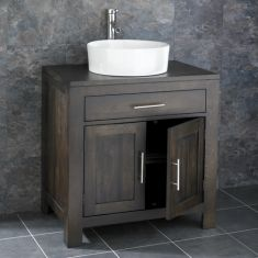 Alta Solid Oak Double Door Bathroom Basin Cabinet