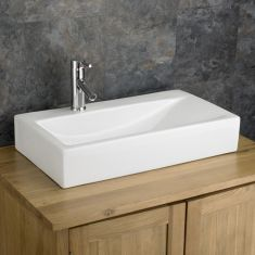 Large Stylish Rectangle Counter Bathroom Basin 670mm x 380mm ALTOMURA