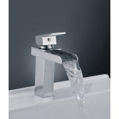 Cascade Single Lever  Waterfall Bathroom Basin Mixer Tap 170mm Tall