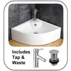 Prato Basin + Tap + Waste Set