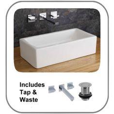 Treviso Basin + Tap + Waste Set