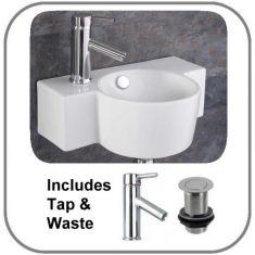 Raguso Basin + Tap + Waste Set
