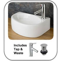 Balsamo Right Basin + Tap + Waste Set