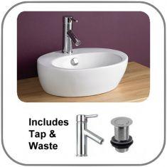 Valenca Basin + Tap + Waste Set