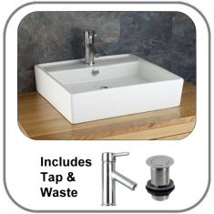 Arsizio Basin + Tap + Waste Set