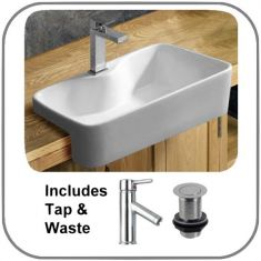 Foggia Basin Tap And Waste Set
