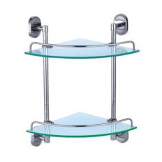 Dart Double Corner Glass Shelf Set