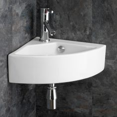 Corner Wall Hung Medium Sized Bathroom Basin 500mm x 355mm FLORENCE