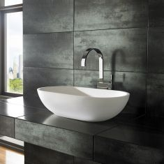 Flow Pure White Solid Surface Basin