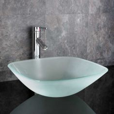 Monza 390mm Clear Square Basin