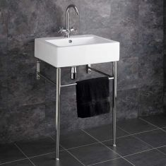 Genoa Ceramic Basin and Metal Stand