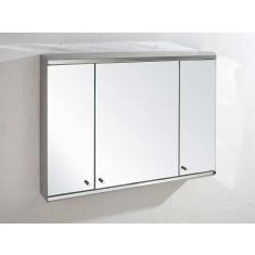 Extra Large 3 Door Wall Mirror Bathroom Cabinet 1200mm x 550mm BISCAY