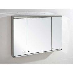 Extra Large 3 Door Wall Mirror Bathroom Cabinet 1200mm x 550mm BISCAY