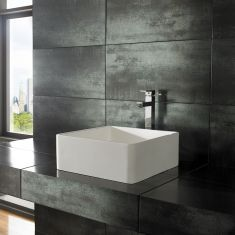 Pure White Solid Surface Basin