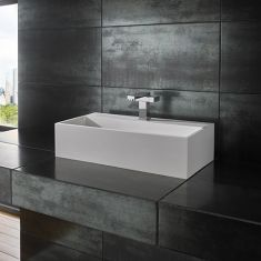 Kiva Pure White Solid Surface Basin